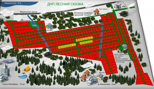 План расположения участков в ДНП «Лесная сказка»