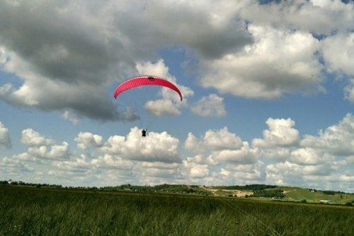 Коттеджный поселок «Терра Туутари». Общий вид участка до начала строительства коттеджного поселка с высоты птичьего полёта. Фото 2016 года