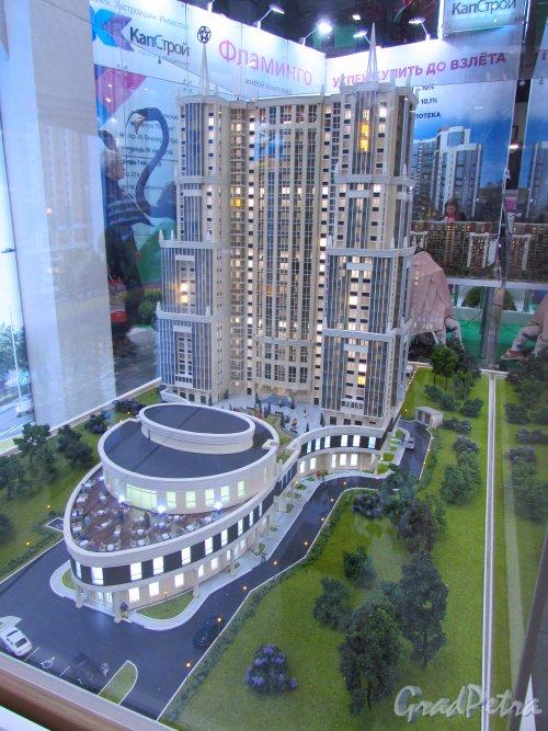 Макет жилого комплекса «Кремлёвские звёзды» от строительной компании «РосСтройИнвест». Фото 30 октября 2016 года.