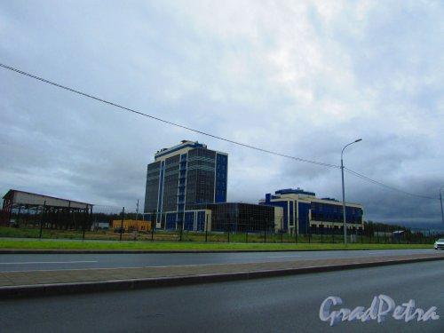 дорога в Каменку. Здание особой экономической зоны «Новоорловская». Фото 8 июня 2016 года.