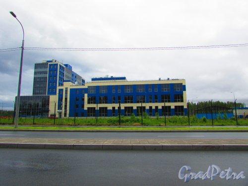 дорога в Каменку. Административное здание особой экономической зоны «Новоорловская». Фото 8 июня 2016 года.