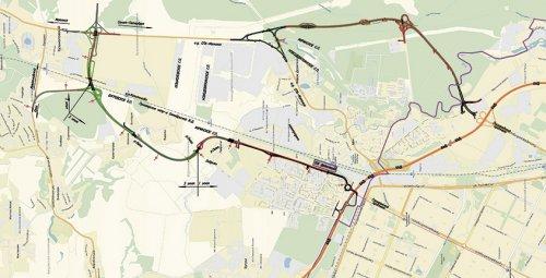 Проект транспортного обхода посёлка Мурино.