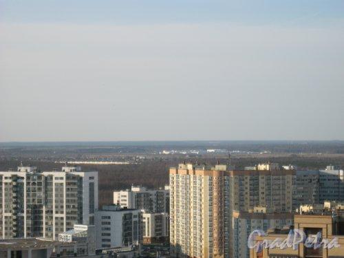 ЖК «Юнтолово». Вид с крыши дома 2 по Лыжному пер. Фото 18 апреля 2014 г.