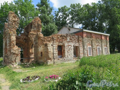 Копорская крепость, Собор Преображения Господня, 1500, 1704-05. Общий вид храма со стороны северного фасада. фото июль 2015 г.