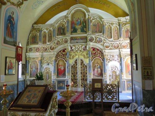 Церковь Николая Чудотворца в Котлах, Иконостас. фото июль 2015 г.