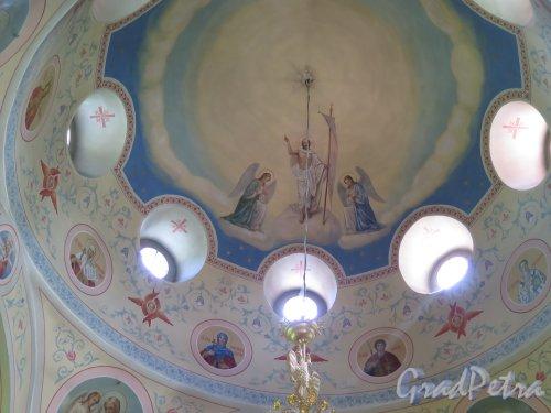 Церковь Николая Чудотворца в Котлах, Роспись купола. Общий вид. фото июль 2015 г.