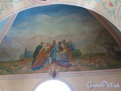 Церковь Николая Чудотворца в Котлах. Роспись в падуге купола. фото июль 2015 г.