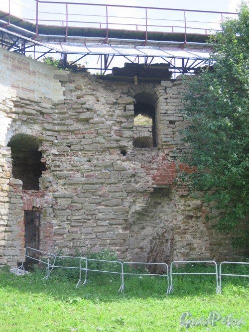 Шлиссельбург, г. Крепость Орешек. Фрагмент внутренней стены. фото август 2015 г.