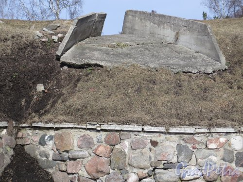Крепость Корела. Остатки укреплений 1940-х гг. фото март 2016 г.