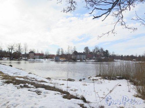 Крепость Корела. Вид на городскую застройку со стороны Крепости. фото март 2016 г.
