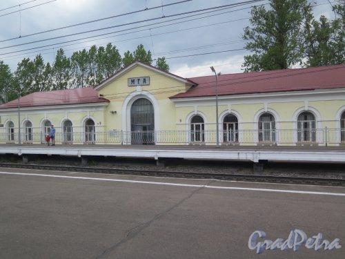 Пос. МГА. Железнодорожный вокзал. Фасад со стороны платформы. фото май 2016 г.