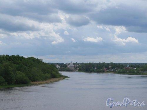 Вид на реку Волхов от урочище Сопки. фото июнь 2017 г.