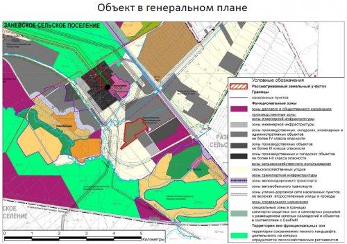 Промышленный парк «Приневский» на Генеральном плане поселения