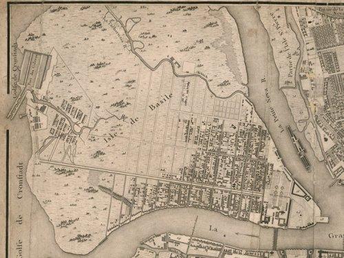 Васильевский остров на карте 1753 года.