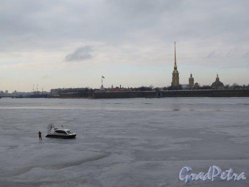 Заячий остров, Петропавловская крепость и Нева. фото 1 марта 2015 г.