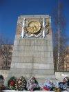 Кладбище (воинское захоронение) Дачное. Мемориальный комплекс. Стела. Фото 17 марта 2014 г.