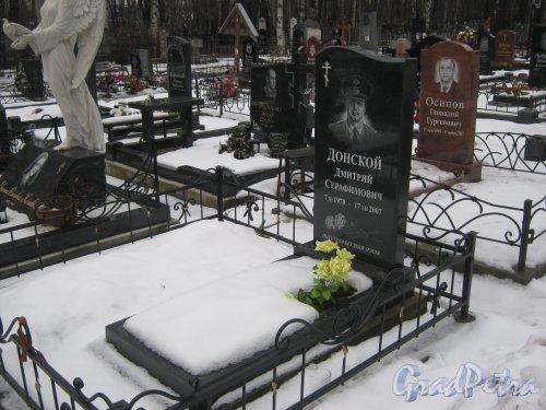 Богословское кладбище. Захоронение Д.С. Донского (1970-2007). Фото февраль 2014 г.
