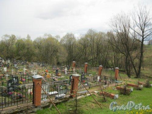 г. Пушкин, Кузьминское кладбище. Вид с Кузьминского моста. Фото 5 мая 2014 г.