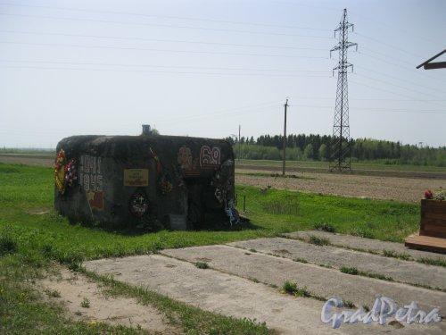 Лен.обл, Гатчинский р-н. ДОТ Карпова около шоссе Гатчина-Куровицы. Фото 20 мая 2014 г.