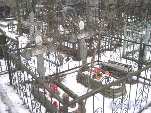 Богословское кладбище. Могилы Воиновых. Фото февраль 2014 г.