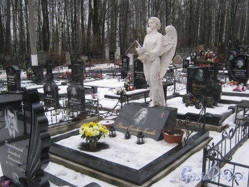 Захоронения Е.О. Котовой на Богословском владбище. Фото февраль 2014 г.