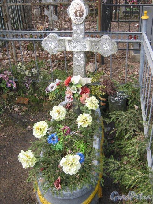 г. Ломоносов, Мартышкинское кладбище. Могила Е.В. Весничевой. Фото 7 марта 2014 г.