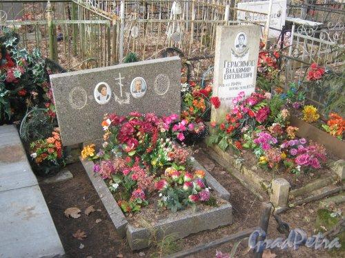 г. Ломоносов, Мартышкинское кладбище. Захоронение Герасимова В.Е. - Голдобиных. Фото 7 марта 2014 г.
