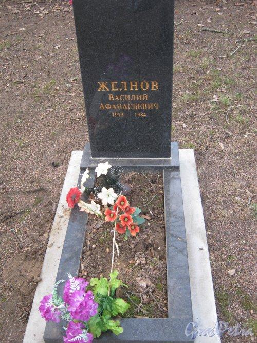 Захоронение В.А. Желнова на Мартышкинском братском захоронение в городе Ломоносов. Фото 7 марта 2014 г.