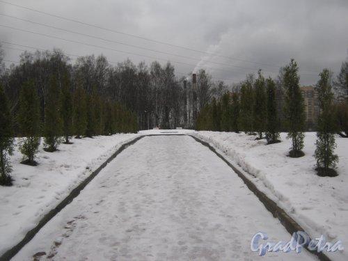 Богословское кладбище. Братское захоронение 1941-1945 годов. Фото февраль 2014 г.