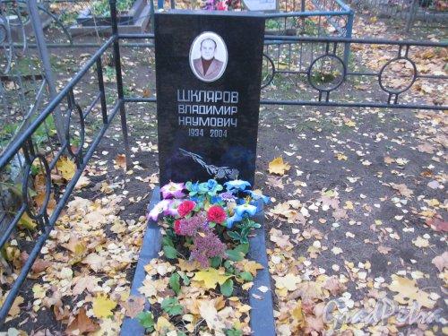 Г. Ломоносов, Мартышкинское кладбище. Захоронение В.Н. Шклярова (1934-2004). Фото 16 октября 2014 г.