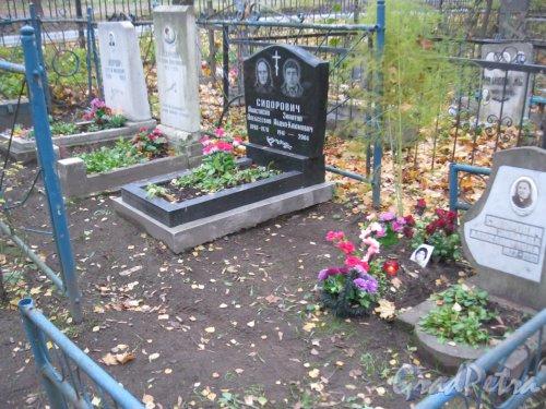Г. Ломоносов, Мартышкинское кладбище. Участок захоронений семьи Сидорович. Фото 16 октября 2014 г.