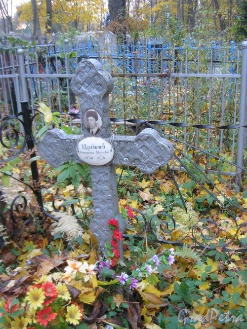 Г. Ломоносов, Мартышкинское кладбище. Захоронение К.Е. Щербатова. Фото 16 октября 2014 г.
