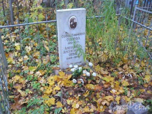 Г. Ломоносов, Мартышкинское кладбище. Захоронение С.Е. и А.А. Орловых. Фото 16 октября 2014 г.