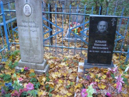 Г. Ломоносов, Мартышкинское кладбище. Захоронение Ильиных. Фото 16 октября 2014 г.