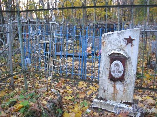 Г. Ломоносов, Мартышкинское кладбище. Захоронение В.И.Смирнова. Фото 16 октября 2014 г.