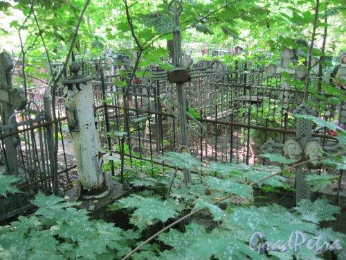 Красненькое кладбище. Безымянные захоронения. Фото 6 августа 2015 г.