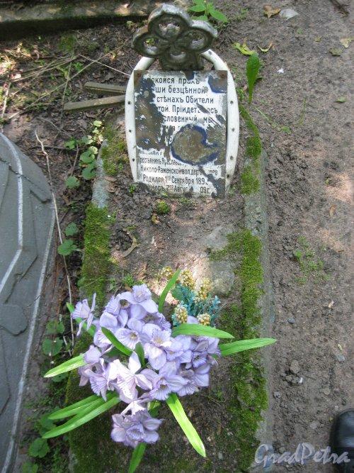 Красненькое кладбище. Безымянное захоронение на Центральной дорожке. Фото 6 августа 2015 г.