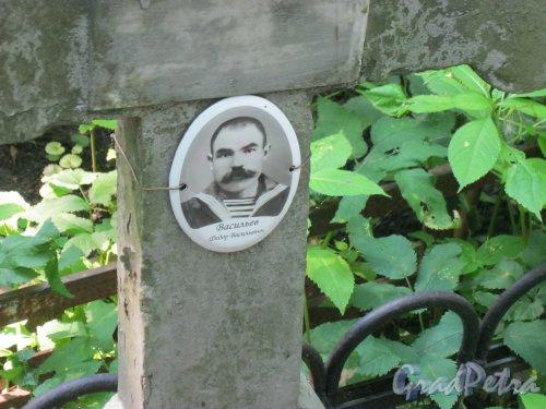 Красненькое кладбище. Захоронение Ф.В. Васильева. Фото 6 августа 2015 г.