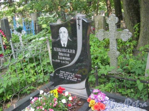 Красненькое кладбище. Захоронение Н.А. Левковского (1949-2011). Фото 6 августа 2015 г.
