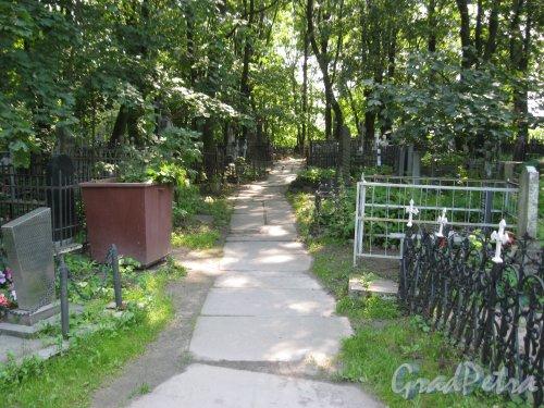 Красненькое кладбище. Невская дорожка. Фото 6 августа 2015 г.