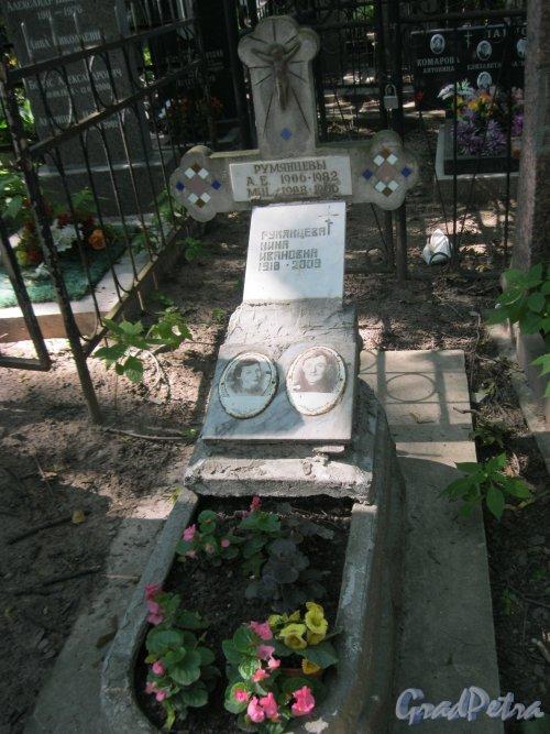 Красненькое кладбище. Захоронение Румянцевых. Фото 6 августа 2015 г.