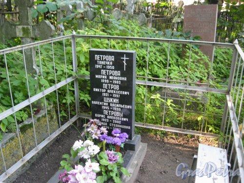Красненькое кладбище. Захоронение семьи Петровых-Щукиных. Фото 6 августа 2015 г.