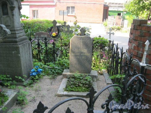Красненькое кладбище. Захоронение Н.И. Крюкова. Фото 6 августа 2015 г.