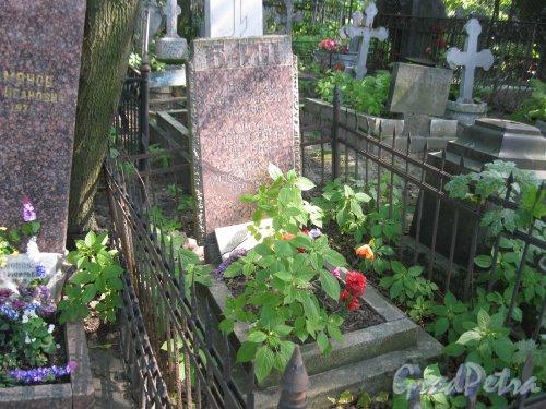 Красненькое кладбище. Захоронение семьи Байц. Фото 6 августа 2015 г.