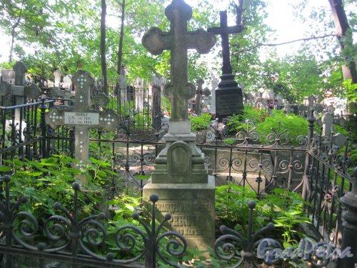 Красненькое кладбище. Захоронение семьи Прекс и семьи Соколовых. Фото 6 августа 2015 г.