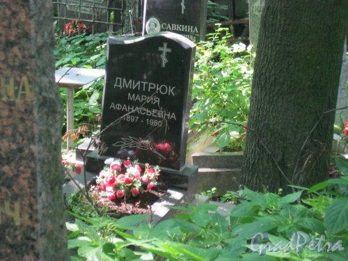 Красненькое кладбище. Захоронение М.А. Дмитрюк. Фото 6 августа 2015 г.