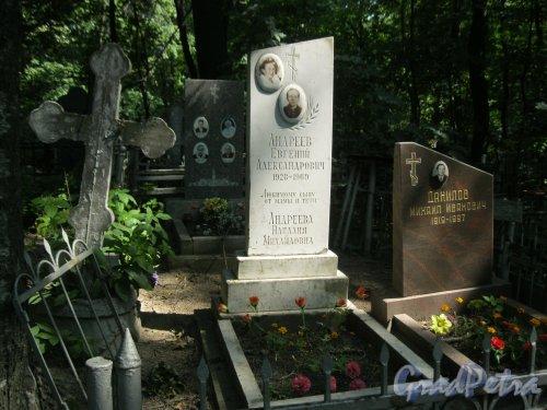 Красненькое кладбище. Захоронение А.Е., Н.М. Андреевых и М.И. Данилова. Фото 6 августа 2015 г.