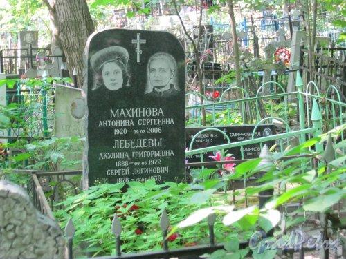 Красненькое кладбище. Захоронение А.С. Махиновой, А.Г. и С.Л. Лебедевых. Фото 6 августа 2015 г.