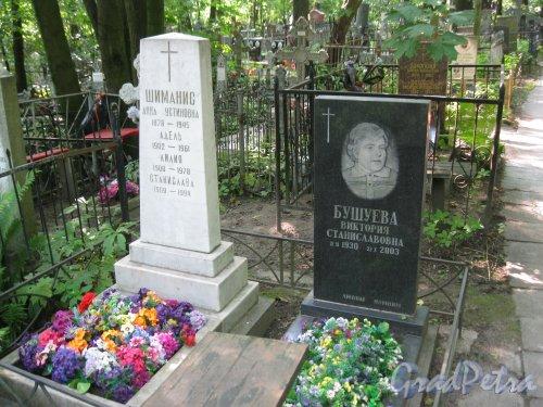 Красненькое кладбище. Захоронение семьи Шиманис и В.С. Бушуевой. Фото 6 августа 2015 г.