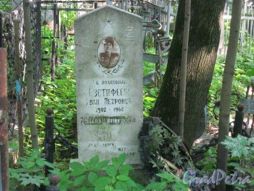 Красненькое кладбище. Захоронение И.П. и А.П. Евстифеевых. Фото 6 августа 2015 г.
